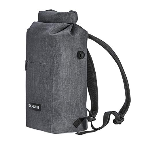 IceMule Jaunt Insulated Backpack Cooler Bag-Hands-Free, Collapsible, Waterproof, Soft-Sided, This Highly Portable Cooler is Ideal for Hiking, The Beach, Picnics, Camping, Fishing-Go Series, Snow Grey