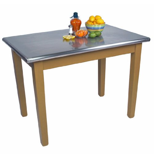 (John Boos Cucina Americana Moderno Prep Table with Stainless Steel Top Size: 48