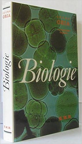 Télécharger en ligne Biologie, cours ORIA pdf