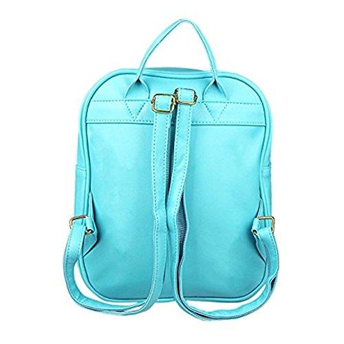 TOMATO-smile - Bolso mochila  de poliuretano para mujer multicolor azul celeste azul