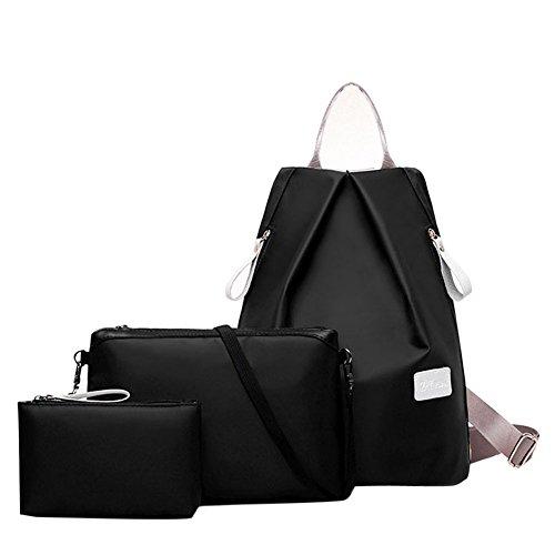 Domybest - Bolso mochila  para mujer Negro negro negro