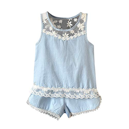Toddler Kids Baby Girls Outfits Clothes Flower Lace
