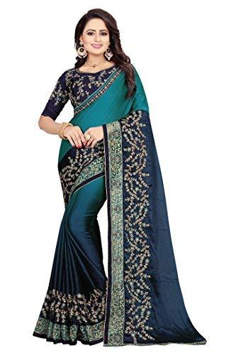 (Indian Silks Kanchipuram Crepe Art Silk Saree(IS1041))