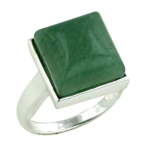 Jade Square Ring - 3