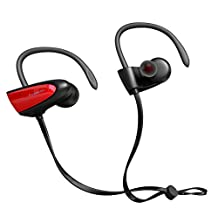 Bluetooth Headphones, SIGN V4.2 Wireless Stereo IPX5 Waterproof Sport Bluetooth Headset, In Ear Bass Bluetooth Earphone with Mic for iPhone 7/6S/6 & Android Smartphones and more (Red) - Fozento