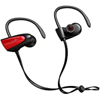 Chamfind Bluetooth Headphones, Wireless Earbuds Bluetooth V4.2 Stereo Earphones, IPX5 Waterproof Sports Neckband Headset, With Mic Bass Noise Reducing for Gym Running(Red) - Fozento