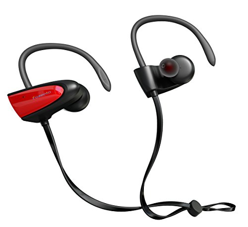 SGIN Bluetooth Headphones, V4.2 Magnetic Portable Wireless Stereo IPX5 Waterproof Sport Headset In Ear Bass Bluetooth Earphone With Mic for iPhone 7/6S/6 & Android Smartphones and more (Red) - Fozento