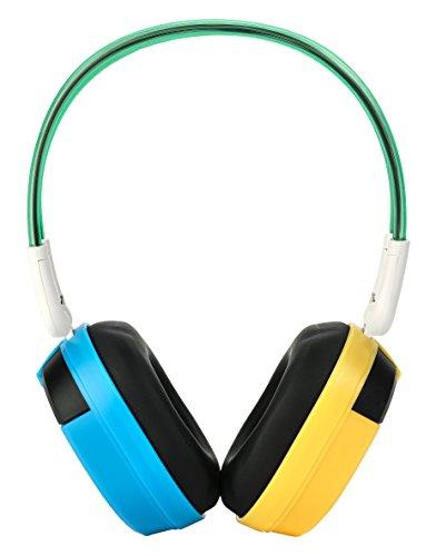 Bravo View IH-03A – KID FRIENDLY Automotive IR Wireless Headphones (Blue/Yellow)