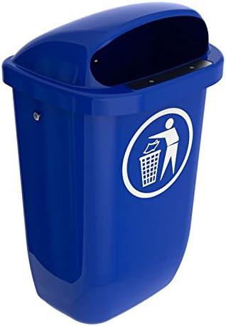 SULO Papierkorb Mülleimer Außenbereich DIN PK, Inhalt 50 l