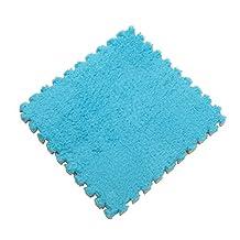 BESTOMZ Foam Play Mats Puzzle Carpet Interlocking Floor Tiles Crawling Exercise Mat for Baby Kids (Blue)