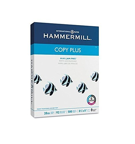 Hammermill 105007 Copy Plus Copy Paper, 92 Brightness, 20lb, 8-1/2 x 11, White, 5000 Sheets/Carton by Hammermill (Image #1)