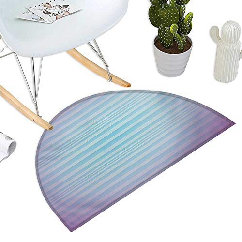 Modern Half Round Door mats Abstract Rising Colors Motif with Minimalist Effects and Striped Concept Artwork Entry Door Mat H 39.3