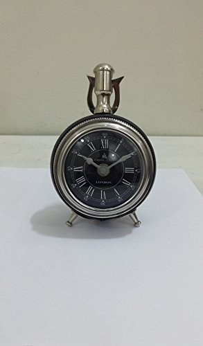 - THORINSTRUMENTS (with device) NAUTICAL MARITIME ~ BLACK CHROME FINISH DESKTOP ~ SMALL TABLE CLOCK ~ WORKING CLOCK