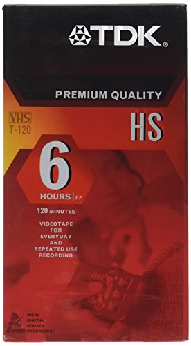 TDK T120 Premium Quality HS VHS Video Cassette Tape - 6 hours EP - 120 minutes - by Smartbuy by TDK Media