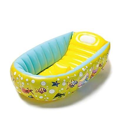 Cyhione Bañera Inflable Piscina Portátil Tina de plástico para Bebés Natación Portable Bañera Bañera Inflable Niño