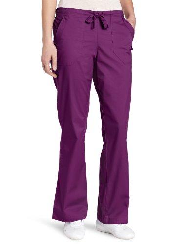 WonderWink Women's Scrubs Utility Girl Stretch Flare Multi Pocket Pant, Merlot, XX-Large