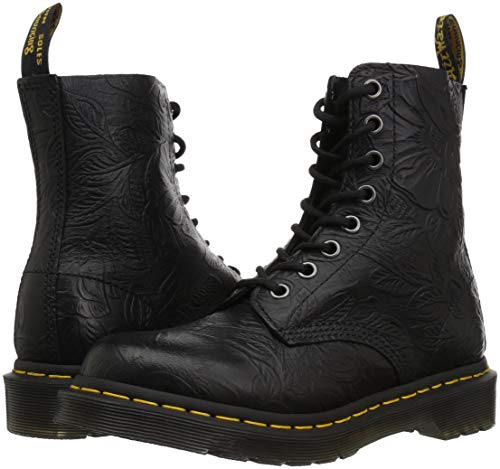 Black Emboss Martens Floral Dr Boots Pascal 24002001 qXSnPg