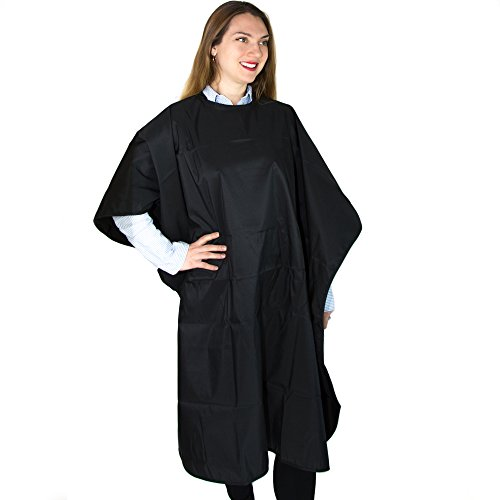 Salon Supply Co Hair Coloring Cape - Professional Salon Cape for Chemical Treatments - 6 Snap Closure - Polyester with PU Coating (Capes Hair Chemical)