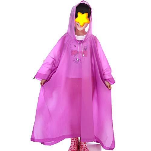 Età Tuta Anni Completo 13 Con E In Cappuccio Compresa Cloak Cartone Purple Zhangqiang 6 Per Esterno Antipioggia Impermeabile Di Tra Bambini Mantella r0w4rpAq