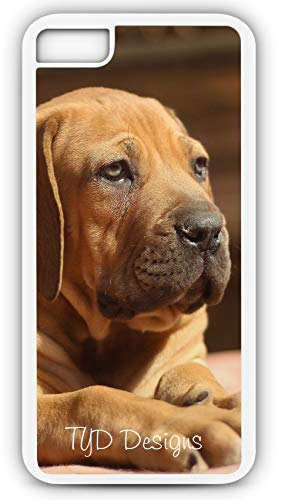 - iPhone 8 Plus 8+ Case Ballotade Boerboel Peanut Bulldog Puppy Customizable by TYD Designs in White Rubber