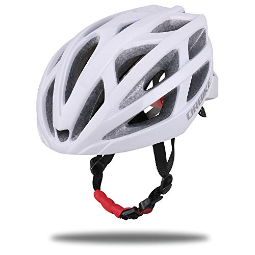 DRBIKE Bike Helmet for Men, Ultralight Bicycle Helmet for Road Bike Mountain Bike with Adjustable Strap and Dial, Cycling Accessories (F- White)