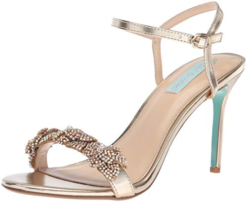 Blue by Betsey Johnson Women's SB-Harlo Heeled Sandal, Gold, 8.5 M US