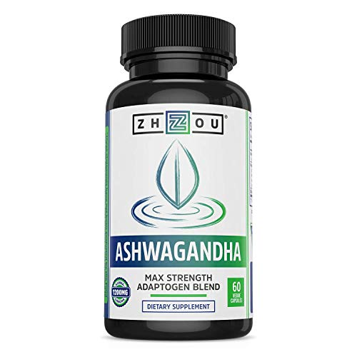Ashwagandha Capsules - Natural Adaptogenic Supplements with rhodiola & Cordyceps, Adrenal System Booster, for Stress & Occasional Anxiety Relief - 30 Servings