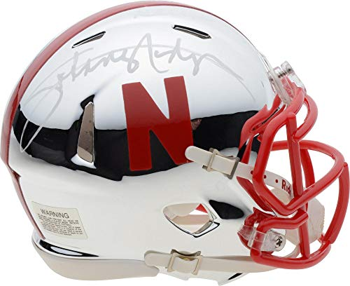Johnny Rodgers Nebraska Cornhuskers Autographed Riddell Chrome Speed Mini Helmet with