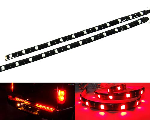2x LED Light Strip 30cm Car Truck Motorcycle Sidelight Indicator Under Bumper Fog Lamp Tail Stop Daytime Light DRL Interior Universal Fit White