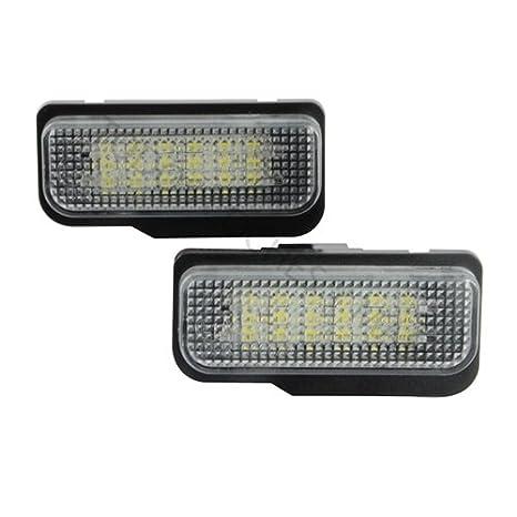 TMT LEDS(TM) PLAFONES LED MATRICULA W203 5 PUERTAS HOMOLOGADO E4 CE W211 W219 W171 W207 LUCES LED: Amazon.es: Coche y moto