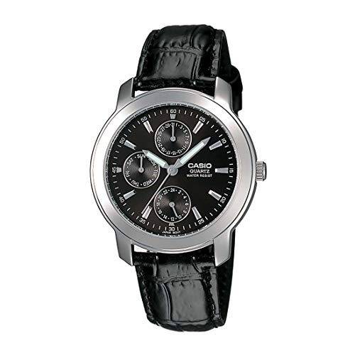 Casio Enticer Analog Black Dial Men's Watch - MTP-1192E-1ADF (A167) -
