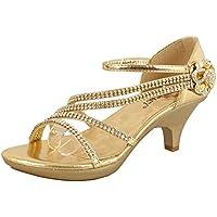ca1c36aa7126 JJF Shoes Delicacy Angel-62 Womens Strappy Rhinestone Dress Sandal Low Heel  Shoes