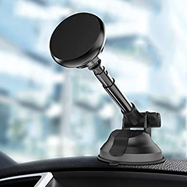 bb face Phone Holder for Car,Magnetic Phone Car Mount for Hands Free Universal Cell Phone Stand with Long Adjustable Arm and Strong Grip Car Phone Mount Gray BOBOTEL Magnetic Car Phone Mount Gray