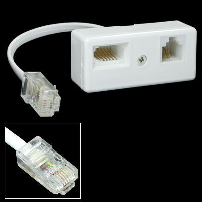 SODIAL(R) RJ45 Plug to BT RJ11 Secondary Splitter Telephone Adapter