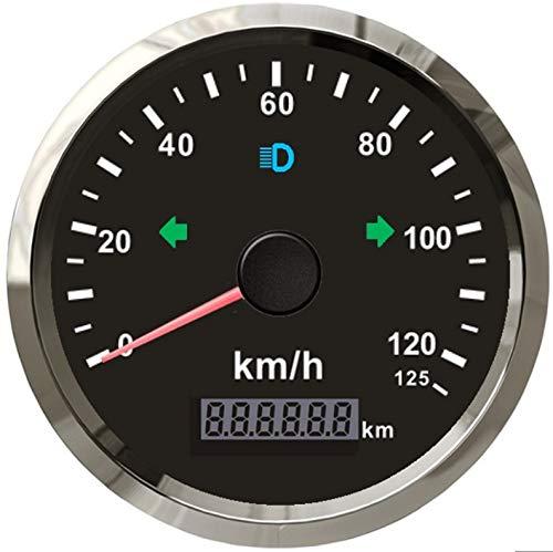 ELING GPS Kilometerteller 0-125km/h voor Auto Motorfiets ATV UTV 85MM