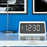 Digital Alarm Clock with Wireless Phone Charger for