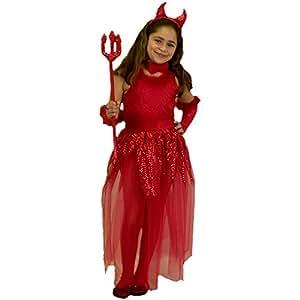 Child's Girl's Devil Costume (Size:X-small 4-6)