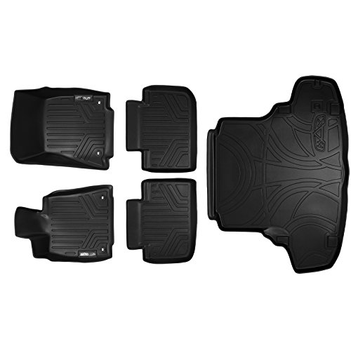 Lexus Rear Wheel Drive (MAXFLOORMAT Floor Mats (2 Rows) and MAXTRAY Cargo Liner Set Black for 2014-2018 Lexus IS Sedan Rear Wheel Drive Only)