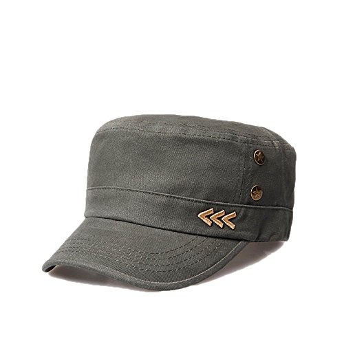 Nameblue Women Men's Cotton Adjustable Army Cap Military Hat