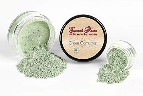 GREEN CORRECTOR Concealer Mineral Makeup Bare Skin Natural Powder Full Coverage (20 gram Sifter Jar) ()