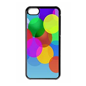 iPhone 5C Case,Fluttering Color Bubble Hard Shell Back Case for Black iPhone 5C Okaycosama355027