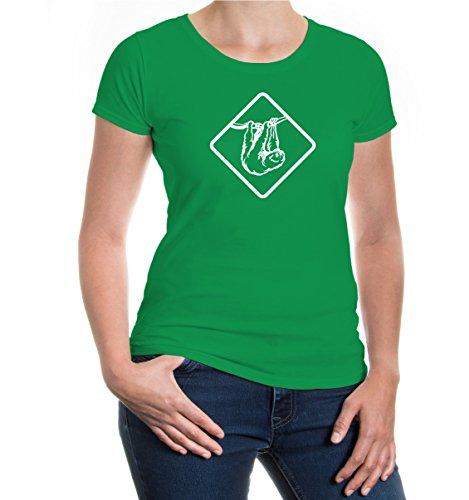 Girlie T-Shirt Sloth kellygreen