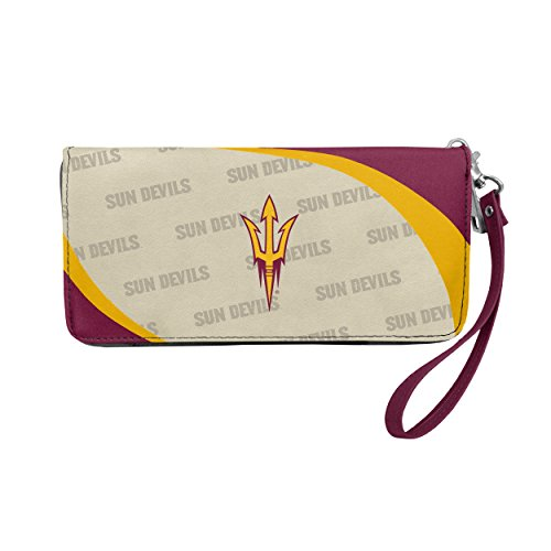 Arizona State Credit Card - NCAA Arizona State Sun Devils Curve Zip Organizer Wallet