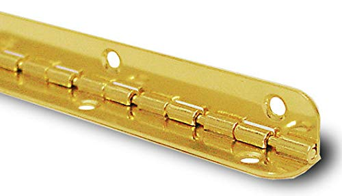 (Brass Plated Piano Humidor Hinge - 7-1/2
