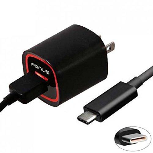 2.4 Amp Rapid Home Wall Travel Charger USB 6ft Type-C Cable Power Adapter Sync Long USB-C Data Cord for Verizon Motorola Moto Z Play Droid - Verizon Motorola Moto Z2 ()