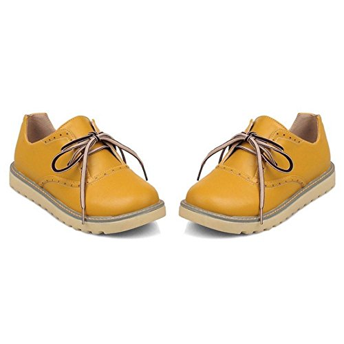Yellow Donne Scarpe Stringate TAOFFEN Col Tacco gwcYXvA6q