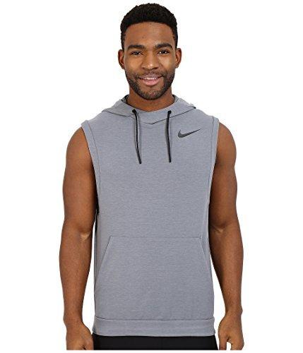 - Nike Men's Dri-Fit Touch Fleece Sleeveless Pullover Cool Grey/Black LG