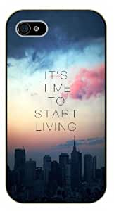 iPhone 4 / 4s It's time to start living, black plastic case / Ed Sheeran Inspirational and motivational life quotes / SURELOCK AUTHENTIC