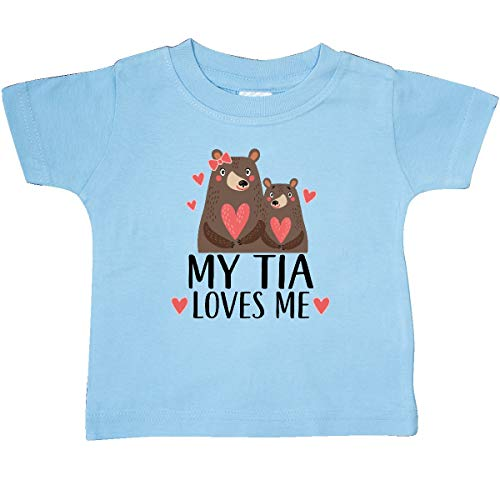 (inktastic - My Tia Loves Me Woodland Bear Baby T-Shirt 6 Months Light Blue 33b26)
