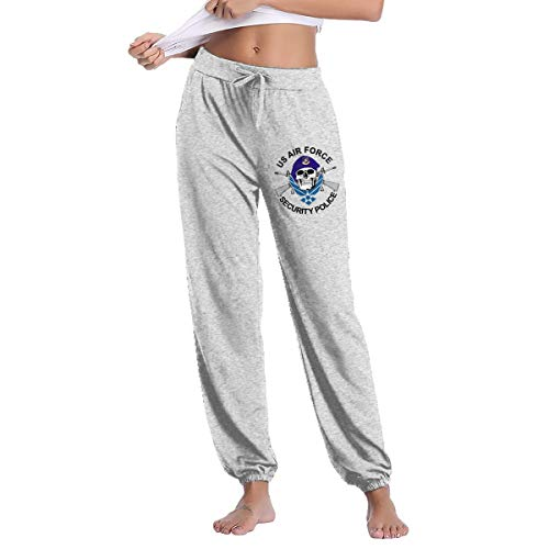 Womens Defensor Fortis Air Force Security Force Family Sweatpants with Pockets Yoga Pants Gray